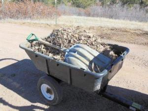 manure wagon with garden waste