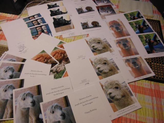 Greeting cards read to be folded