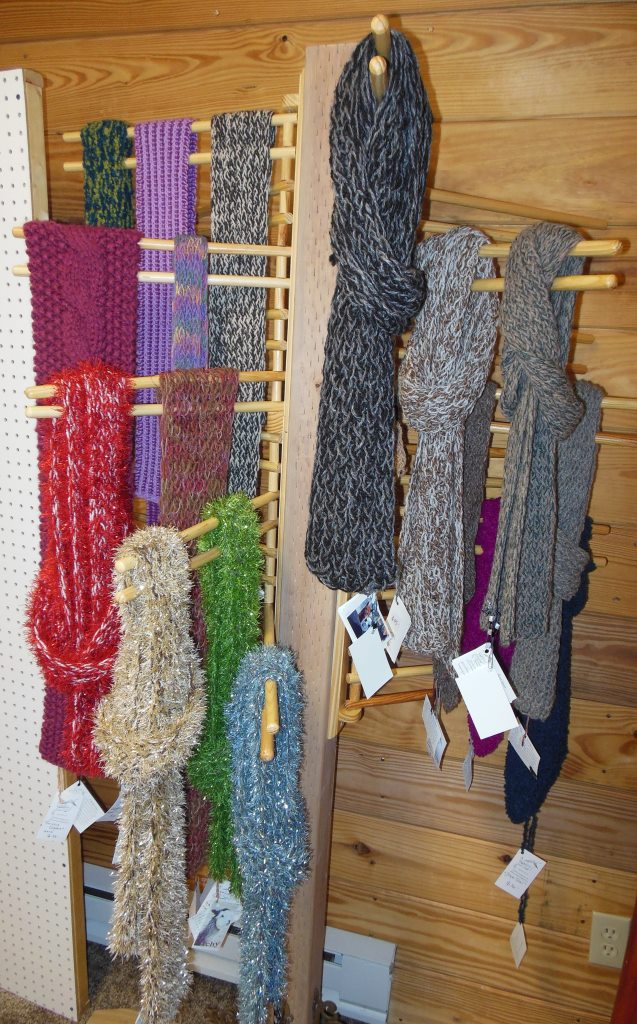 Hand knit scarves for one and all